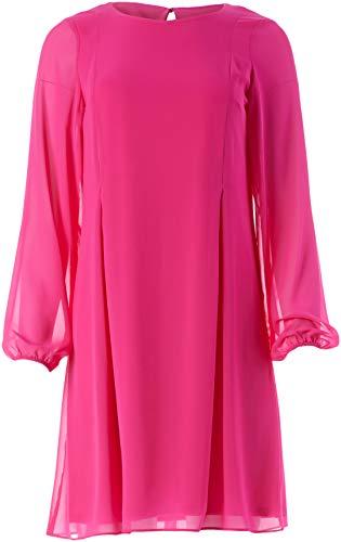 NINE WEST Women's Chiffon Dress with Keyhole Back, Bright ROSE-3BY, 8