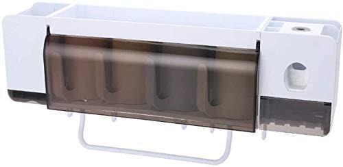 AINIYF Bagno Bagno Doccia Mensola Organizzatore Parete Montato Porta Spazzolino da Denti Spremere Punch Multifunzionale Libero di plastica Bianco (Colore: 4 Coppe)