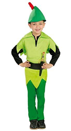 Garçons Peter Pan Robin des Bois Livre Jour Halloween Déguisement Costume Tenue 3-9 an - Vert, Vert, 5-6 Years