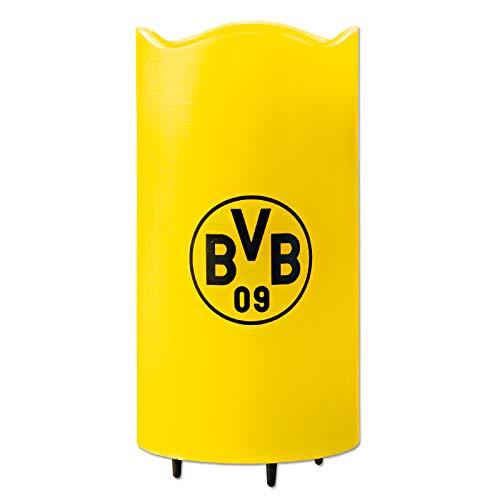 Borussia Dortmund LED-Echtwachskerze Projektor | Projiziert rotierende BVB / Borussia Dortmund Logos an die Decke, inkl. Fernbedienung