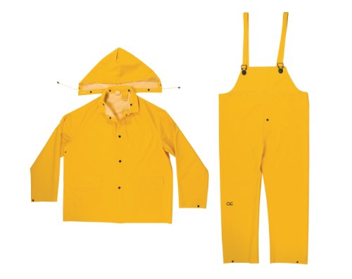 CLC Custom Leathercraft Rain Wear R101L .35MM 3-Piece Rain Suit Yellow, Large