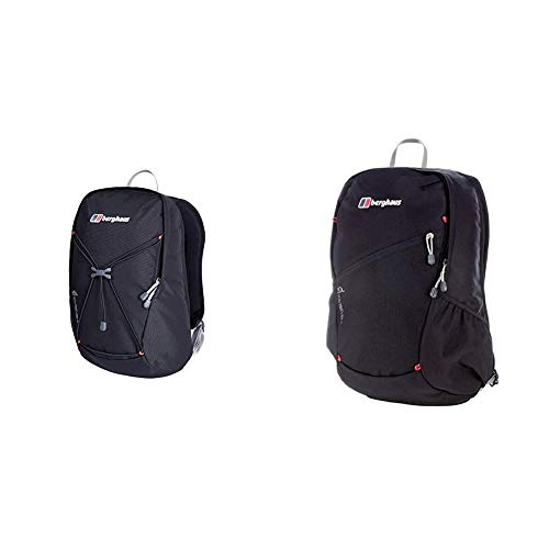 Berghaus TwentyFourSeven Plus 15 Litre Outdoor Rucksack Backpack, Black & TwentyFourSeven Plus 20 Litre Outdoor Rucksack Backpack, Black