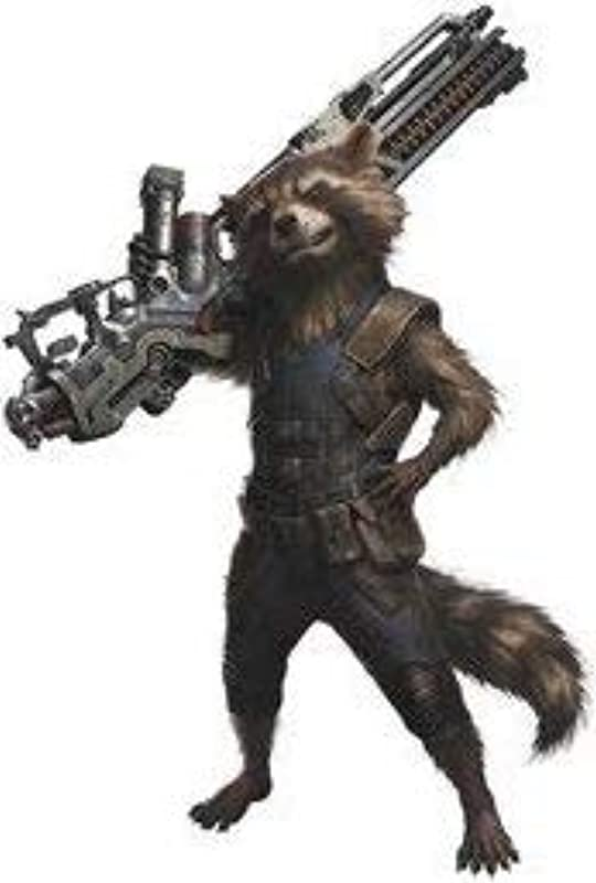 6 Inch Rocket Raccoon Guardians Of The Galaxy Decal Infinity War Marvel Comics Removable Peel Self Stick Vinyl Wall Sticker Art Kids Room Home Decor Boys Children Nursery Baby 3 1 2 X 6 Inch Tall