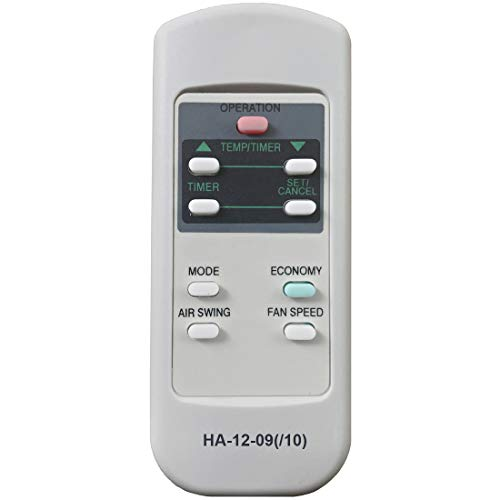 HA-12-09/10 Replacement for Panasonic Air Conditioner Remote Control 671190018A 671190018B Works for CW-XC54HU CW-XC55HU CW-XC63HK CW-XC63HU CW-XC64HK CW-XC64HU CW-XC65HU CW-XC83GU CW-XC83HK CW-XC83HU