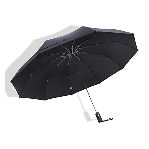 YDL 125cm Top Calidad Paraguas Hombres Resistente al Viento Resistente al Viento Al Aire Libre Avance Apropie Totalmente Automáticas Lluvias Lluvias Mujeres Parasol (Color : Black)