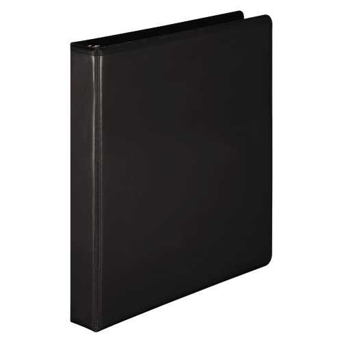 Wilson Jones D-Ring Vinyl View Binder, 1-Inch Capacity, Black (W386-14B)