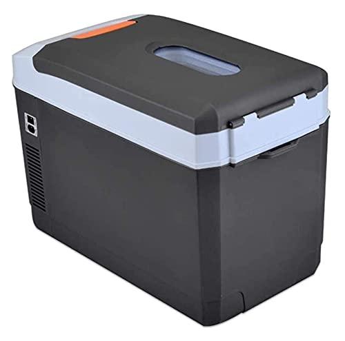 XBR Refrigerador para Acampar, Refrigerador portátil para automóvil Refrigeración de Doble núcleo Mini Enfriador de insulina -12v / 24v DC 220v AC para Camiones (Color: Negro, Tamaño: 53x28x36cm)
