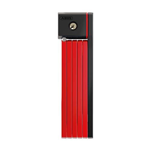 ABUS Bordo uGrip 5700/80 84428 - Candado plegable con soporte (varillas de 5 mm, nivel de seguridad 7 - 80 cm), color rojo