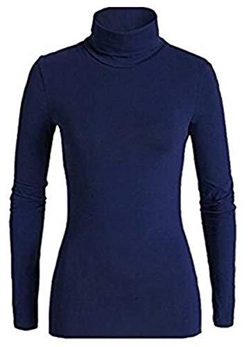dolcevita donna JADEA cotone elasticizzato art.4267 (l/xl, blu)
