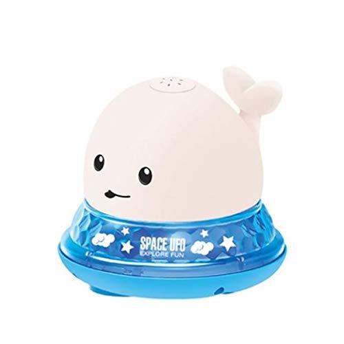 WARMTOWER Bebé niños ballena aspersor de inducción eléctrico música luces coloridas juguetes de baño para bebés juguetes de agua