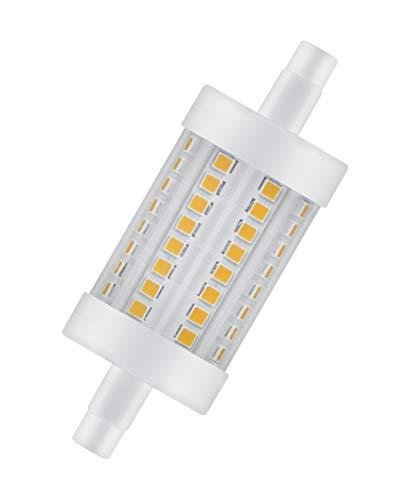 OSRAM Lot de 10 Ampoules crayons LED   Culot R7s   Blanc chaud   2700 K   8 W équivalent 75 W   clair   LED STAR LINE R7s