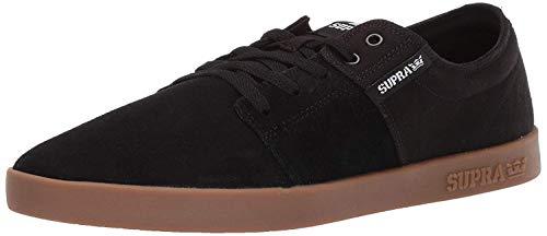 Supra Stacks II Skate Shoe, Black-Gum, 8