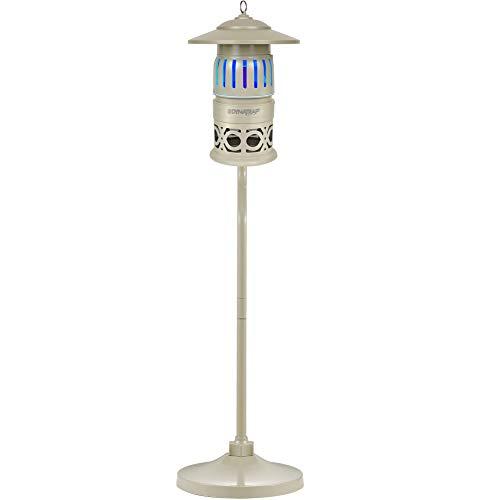 DynaTrap (DT12610-DEC3) Insect Trap Pole Mount, Twist On/Off, 1/3 Acre, Sonata Series, Stone, gray