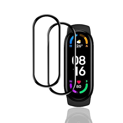 KONEE Pellicola Protettiva Compatibile con Xiaomi Mi band 6, 【2 Pezzi】 [Copertura Totale, Alta Definizione] Copertura Completa Protezione Schermo per Xiaomi Mi band 6