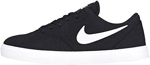 Nike SB Check CNVS (GS) Sportschuhe Kinder Sneaker Sneaker Schwarz, Schuhgröße:EUR 35.5 | US 3.5Y