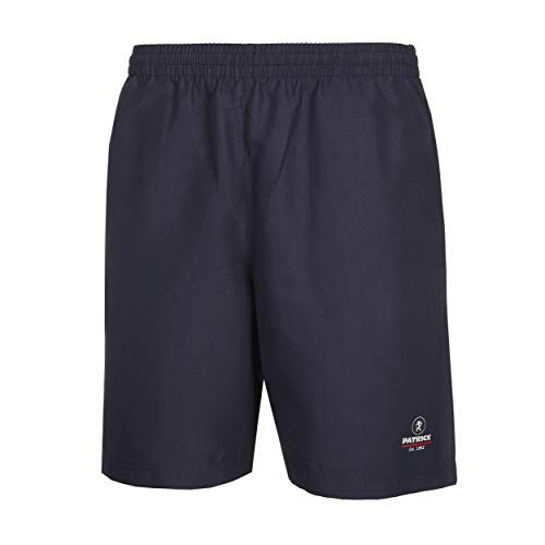Pantaloncini sportivi da uomo, 100% microfibra di poliestere, ideali per tennis, fitness, hiking e golf, Patrick Exclusive Line, blu navy, L