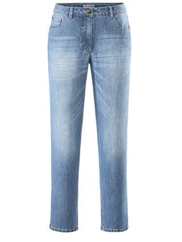 Angel of Style by HAPPYsize Damen Lange Jeans Carla Slim Fit in Hellblau aus Baumwolle Casual