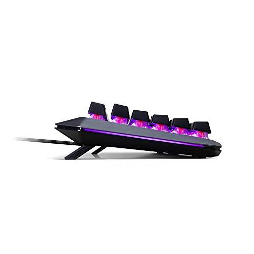 Cooler Master MK850 USB Gaming-Tastatur mit RGB-Beleuchtung, magnetische Handgelenkablage, Qwertz – deutsches Tastaturlayout