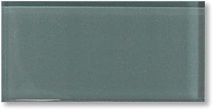 Best smoke gray glass subway tile backsplash Reviews
