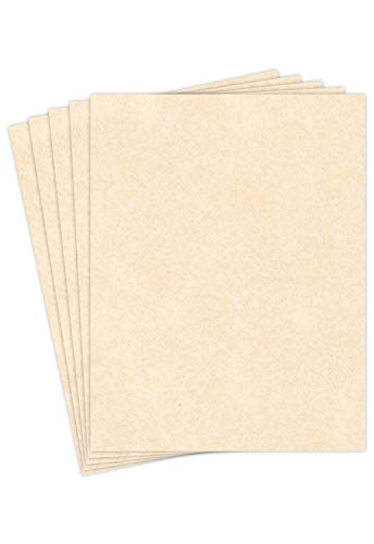 """Natural Stationery Parchment Paper – Great for Writing, Certificates, Menus and Wedding Invitations 