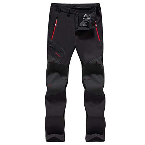LHHMZ Hiking Trousers Men Outdoor Water-repellent Breathable Walking Trousers Lightweight Quick Dry Windproof Climbing Sportswear Casual Pants