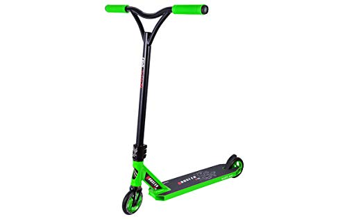BESTIAL WOLF Booster B18, Scooter Pro, Manillar Negro y Tabla Color (Green)