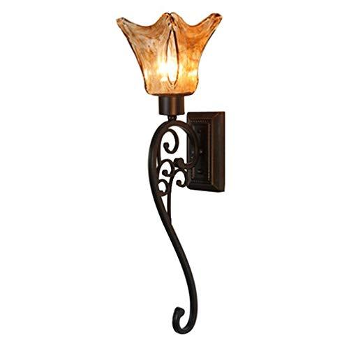 Rétro Applique Industrielle Vintage Design Applique En Métal En Verre Abat-Jour Luminaire Edison E27 Lampe Intérieur Décoratif Éclairage Direct pour Miroir Lumière Lampe De Chevet Couloir Balcon Bar