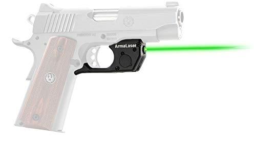 ArmaLaser TR25G Designed for Kimber 1911 Ultra Bright Green Laser Sight Grip Activation