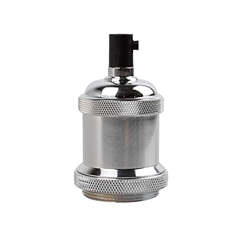 Cambiador de portalámparas E27 Titular de la lámpara Vintage Edison Bulb Base E26 Tornillo Base Base 11 0V 220V Cuenca de aluminio de la luz industrial retro colgante colgantes accesorios...