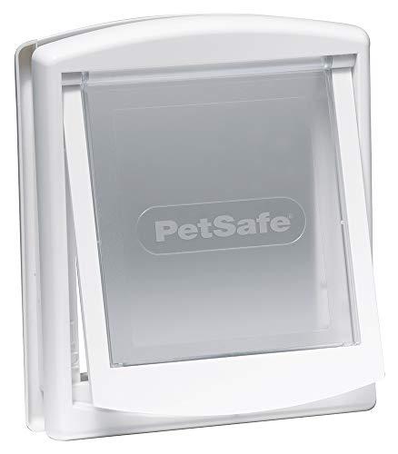PetSafe Staywell Original Katzenklappe u. Hundeklappe, 2 Verschluss-Optionen inkl. Verschlussplatte, Robuste Kunststoff Klappe, Katzenklappe u. Hundeklappe für Innentür & Außenmontage, Größe S, weiß