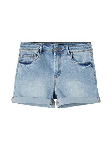 NAME IT NLFRAVEN DNMBATECE 1260 HW Shorts Noos Pantalones Vaqueros, Mezclilla De Color Azul Claro, 170 cm para Niños