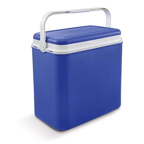 Vorteils-Pack: 24 L Kühlbox | Passive Kühlbox | Kühltaschen inklusive 2 x 400 ml Kühlakkus aus Kunststoff mit polystyrol thermische Isolierung (Blau)