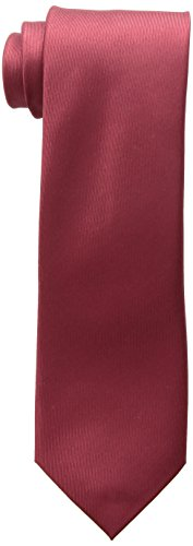 Kenneth Cole REACTION Men's Darien Solid Tie, Burgundy, One Size
