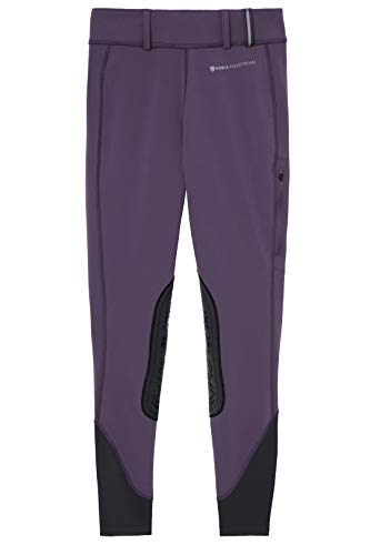 Noble Equestrian Balance Softshell Reithose, Grape Royale, Medium
