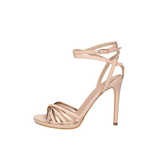 Guess Damen Tonya2/Sandalo (Sandal)/Leathe Riemchen Pumps, Rosa Pink Blush, 39 EU