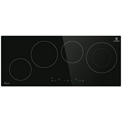 Encimera vitrocerámica 90cm (autosuficiente, 6,4kW, 9 escalones, 4 zonas, sin marco, poca profundidad, al tacto, temporizador automático) KF9000RL - KKT KOLBE