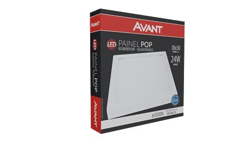 Painel sobrepor LED , Bivolt, Avant, 768131375, 24W, Branco