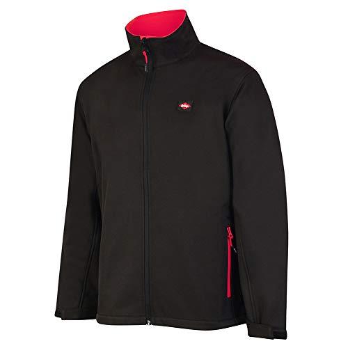 Lee Cooper LCJKT450 ropa de trabajo para hombre Chaqueta Softshell Seguridad en el Trabajo con la servidumbre forro polar, Negro, Grande