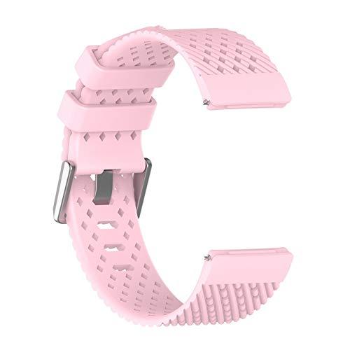Correas para Relojes de Hombre Transpirable Correa de Silicona Banda de muñeca de la Correa de reemplazo de Colores Correa de Pulsera (Color : Pink)