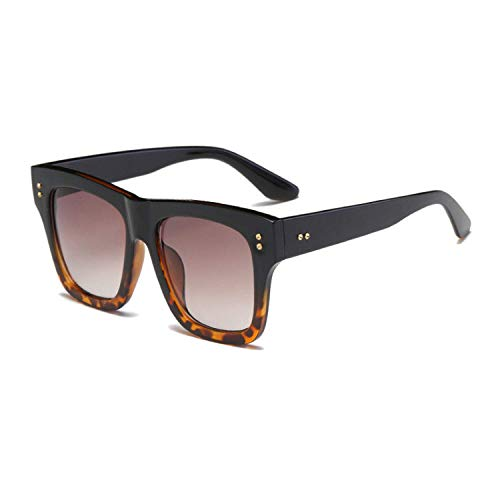 WERERT Gafas de Sol Deportivas,Retro Women Square Sunglasses Designer Fashion Nail Decoration Ladies Pink Gradient Shades