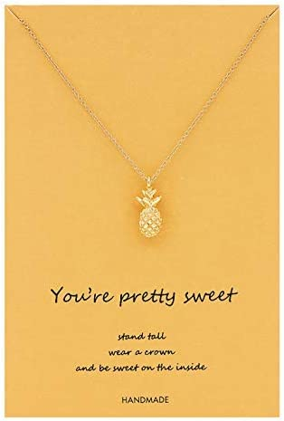 Sale Zealmer Women 16K Ranking TOP12 Gold Pendant Plated Necklace Pineapple