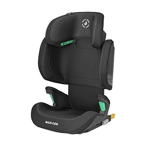 Maxi-Cosi Morion i-Size, Mitwachsender Kindersitz mit ISOFIX, Gruppe 2/3 Autositz (ca. 100-150 cm / 15-36 kg), Nutzbar ab ca. 3,5 Jahre bis ca. 12 Jahre, Basic Black (schwarz)