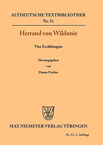 Vier Erzählungen (Altdeutsche Textbibliothek, Band 51)