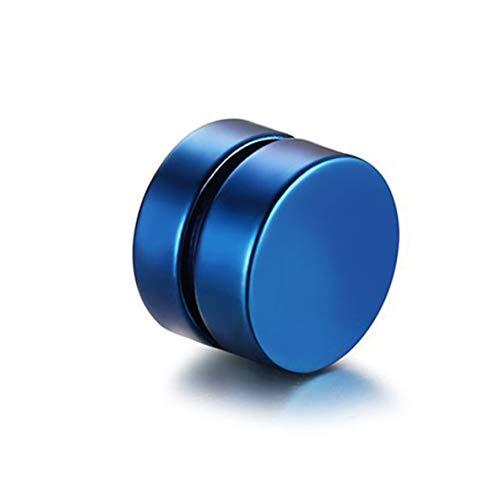 Pendientes de Clip magnéticos con imán de Moda Vintage para Hombre, Pendientes de Clip sin Perforaciones, Pendientes Falsos para Amante del Novio, Azul