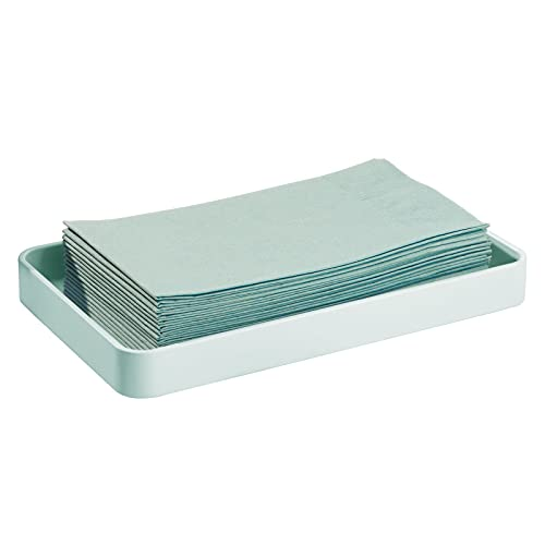 mDesign Moderner dekorativer Handtuchhalter aus Metall, stabiler Halter für Einweg-Papierservietten – Badezimmer Schminktisch Arbeitsplatte Organisation Pack of 1 mint
