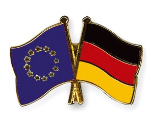 Yantec Freundschaftspin Europa - Deutschland Pin Anstecknadel Doppelflaggenpin