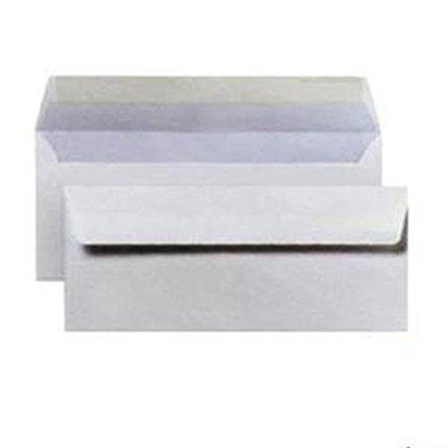 Buste bianche commerciali 11x23cm senza finestra 1000pz con strip adesivo 80gr m2 11 x 23 cm BLASETTI