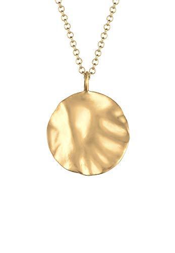 Elli Halskette Damen Organic Design Geo Plättchen Matt 925 Sterling Silber vergoldet