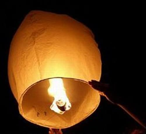10 Sky Lanterns - Weiß Funny and Exciting sets by e-joy