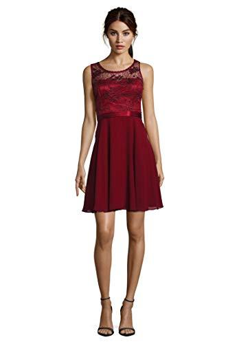 Vera Mont VM Damen 0085/4825 Kleid, Rot (Dark Burgundy 4514), (Herstellergröße: 40)